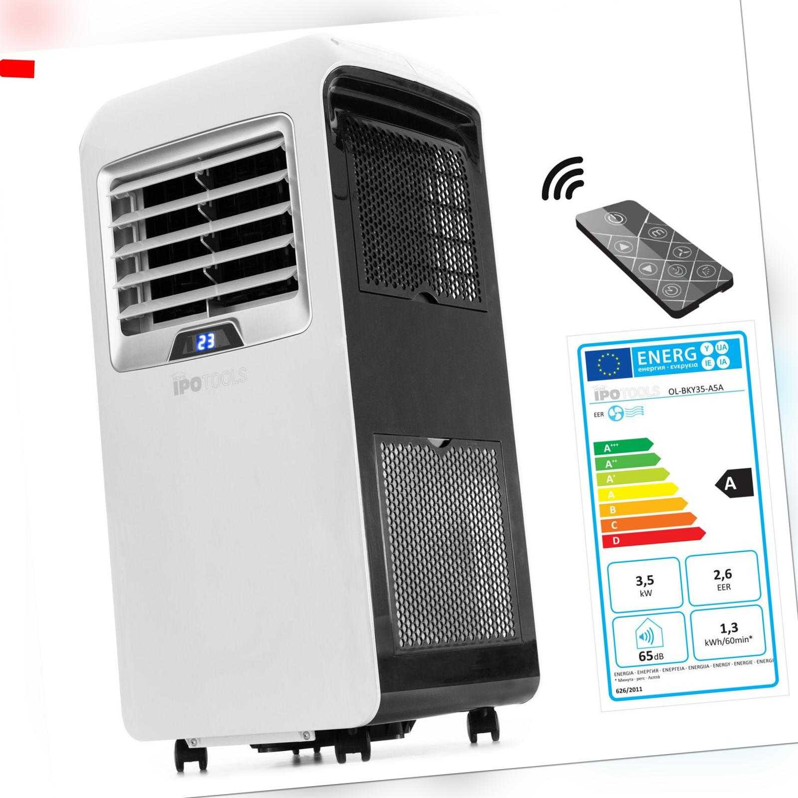 IPOTOOLS Mobile Klimaanlage Mobiles Lokales Klimagerät 3,5 kW / 12000 Btu EEK A ; EEK A++