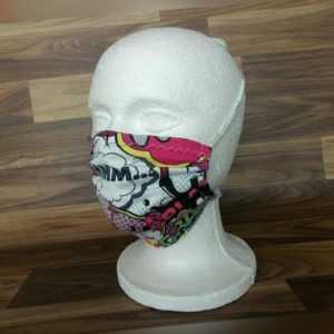 Mund Nasen Maske Stoffmaske mit Filter Einlegefach waschbar Graffiti Comic