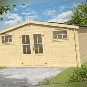 Gartenhaus Washington 500 x 396 cm, 5x4m  Blockbohlen 28 mm Lasita Maja NEU!