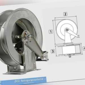 HDS Hochdruckreiniger Schlauchaufroller Schlauchtrommel Edelstahl