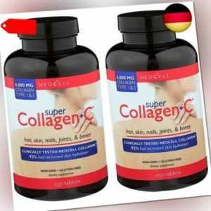 Neocell   Super Collagen + C   Typ 1 & 3   6000 mg   Doppelpackung 2x250