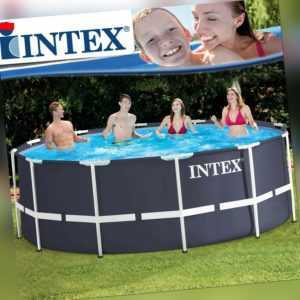 Intex 366x122 Schwimmbecken Swimming Pool Schwimmbad Frame Metal