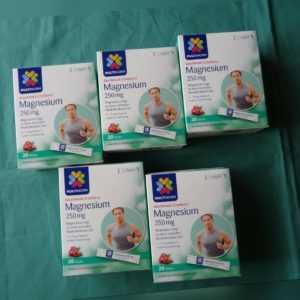 5 x MULTINORM Nahrungsergänzungsmittel; Magnesium;  PG zu 20Bt a.1,5g (01/2022)