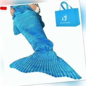 Meerjungfrau Decke, Handgemachte häkeln meerjungfrau flosse decke