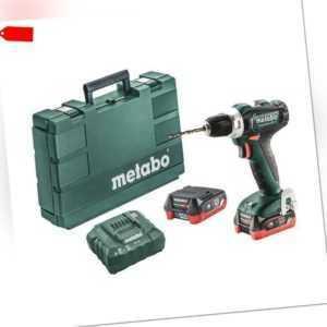 Metabo BS 12 Akku Bohrschrauber 12V Powermaxx + 2x 4,0 Ah Li Ion Akkus im Koffer