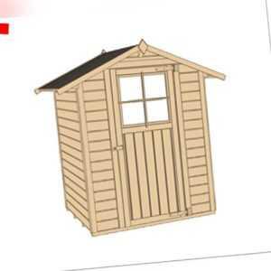 Weka Gartenhaus Holz 2x2 m Geräteschuppen Holzhaus Satteldach lasiert Gerätehaus