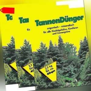 2,18€/KG - Tannen Dünger 2,5kg (3x) für Nadelgehölze Koniferen Dünger