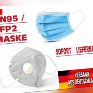 Maske FFP2 KN95 Mund-Nasen-Schutz mit Ausatemventil Atemschutz Gesichtsmaske