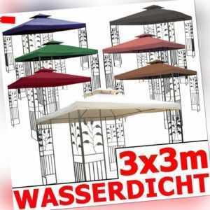 Pavillon WASSERDICHT Toskana Zelt 3x3 m wasserfest Metall Festzelt Dach Garten