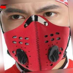 Anti Staub PM2.5 Waschbar Atemschutz Gesichtsschutz Mundschutz Maske Mit Filter