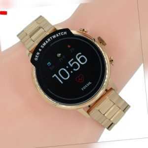 Fossil Q Damen Uhr Smartwatch Gen 4 FTW6018 Q Venture Zirkonia rose Edelstahl