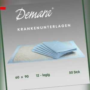 Krankenunterlagen 60x90•12-lagig Wickelunterlagen Matratzenschutz Betteinlagen