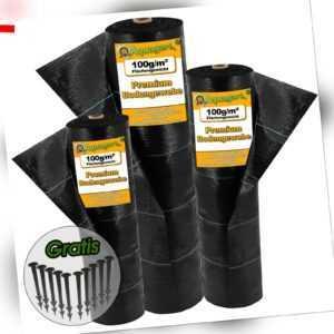 Bodengewebe Gartenvlies Unkrautfolie Mulchfolie Unkrautvlies 100g UV-Stabil  %