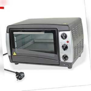 Umluftofen Backofen Pizzaofen Miniofen Ofen 22 Liter 230V 1300W +...