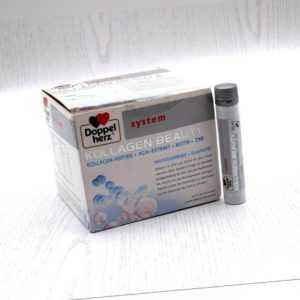 DOPPELHERZ Kollagen beauty system Ampullen 29 x 25 ml Lychee-Melone MHD 03/2021