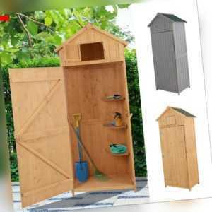 Gartenhaus mit Fachböden Gerätehaus Geräteschuppen Asphaltdach Fenster Holz