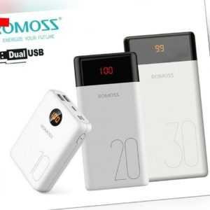 ROMOSS Powerbank Externer Zusatz-Akku 2*USB Tragbare Schnell Ladegerät Für Handy
