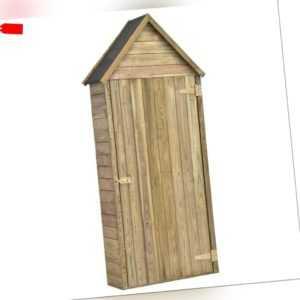 vidaXL Kiefer Imprägniert Geräteschuppen mit Tür Gerätehaus Gartenschrank