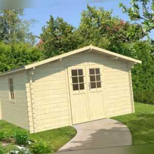 44 mm Gartenhaus 400x300 cm Gerätehaus Holzhaus Schuppen Holzhütte Holz NEU