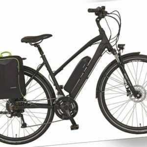 "Prophete E-Bike Alu Trekking 28"" Damenrad Trapez Elektrofahrrad 24-Gang Pedelec"