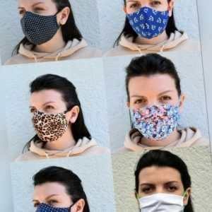 Behelfs Gesichtsmaske Mundschutz Maske Baumwolle waschbar antibakterielle Silver