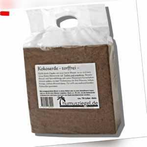 Kokoserde 70 Liter - gepresste Blumenerde Anzuchterde für Kräuter und Gemüse