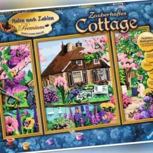 Ravensburger Malen nach Zahlen Premium Zauberhaftes Cottage