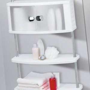 Teleskopregal Badregal ohne Bohren Badezimmerschrank Duschablage Badschrank Alu