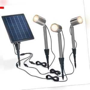 Solarspot PowerTrio 5 Watt Solarstrahler LED Solarleuchte Garten esotec 102705