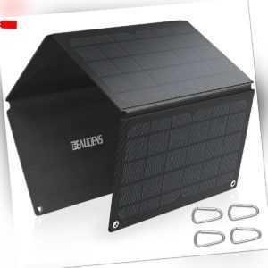 Beaudens 30W Faltbar Solarpanel Ladegerät ETFE Laminated Solarmodul Powerbank EU