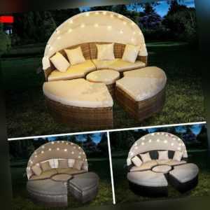 Sonneninsel Poly Rattan Garten Liege Insel Gartenmöbel Lounge Sitzgruppe BRAST