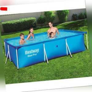 Bestway Swimming Pool 56404 Schwimmbecken Frame Pool Family Pool 300x201x66cm