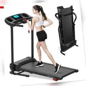 Laufband Fitnessgerät elektrisch Heimtrainer Jogging klappbar LCD Display Neu