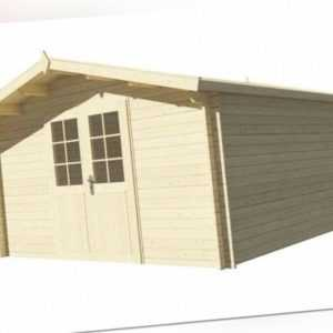 AKTION! Blockhaus Gartenhaus 4x4 m 400 x 400 cm, 34 mm, Holzhaus Schuppen