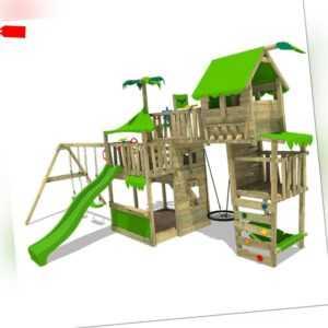 FATMOOSE Spielturm Baumhaus TropicTemple Tall XXL Schaukel Rutsche Holz Garten