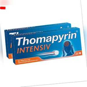 Thomapyrin INTENSIV bei Migräne & Kopfschmerzen 2 x 20stk PZN 08100177
