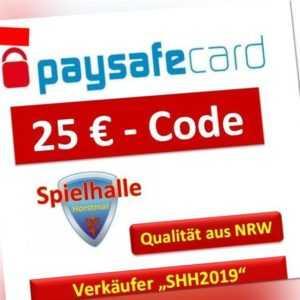 Paysafe Card 25€  Versand 5-10 Min nach Kaufabwicklung via Ebay-Email  9-23Uhr