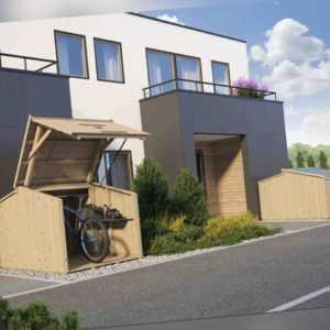 13,5 mm Bikebox ca. 200 x 150 cm Schuppen Geräteschuppen Fahrradschuppen Holz