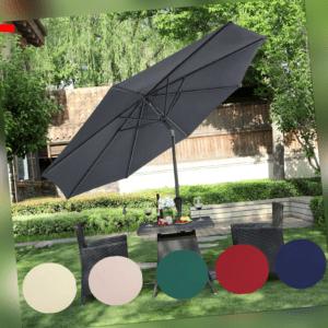 Sonnenschirm Ø 3m Sonnenschutz Gartenschirm Terrassenschirm knickbar mit Kurbel
