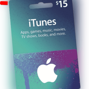 Apple iTunes $15 Dollar US Gift Card - 15 USD Geschenkkarte für USA App Store
