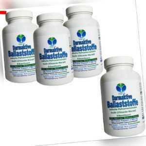 Darmaktive Ballaststoffe Flohsamen Inulin + Erbsenfasern 720 Kapseln. 26715-720