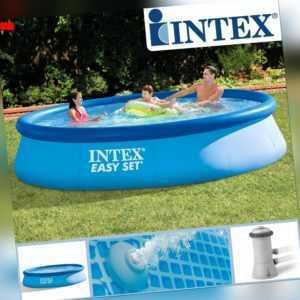 Intex 396x84 cm Swimming Pool Schwimmbecken Schwimmbad Planschbecken mit Pumpe
