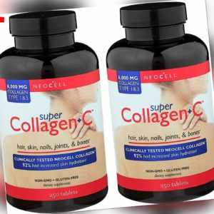 NEOCELL, SUPER COLLAGEN (Kollagen) Type 1 & 3 + Vitamin C 6000mg 500 Tabletten