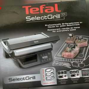 TEFAL Select Grill GC740 Kontaktgrill Tischgrill 2000 W LC Display...