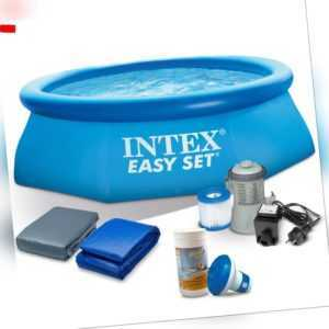 7 in1 Set Schwimmbecken Gartenpool mit Filterpumpe 244 x 76 cm Pool 28110 INTEX