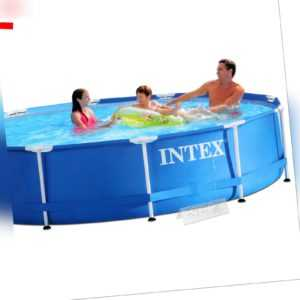 Intex Swimmingpool 3-lagig 366x84cm inkl Filter-Pumpe, Abdeckplane, Thermometer