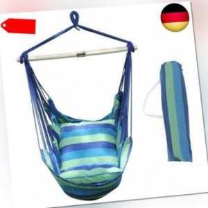 ANPI Hängematte Stuhl Seil Hängen Schaukel, Garten Hängende (Strand Streifen)