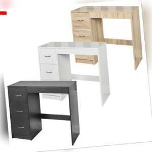 3 Drawer Wooden Bedroom Dressing Computer Work Table Desk Jewellery Office Unit