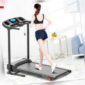 Laufband elektrisch Heimtrainer Fitnessgerät Jogging klappbar mit LCD Display