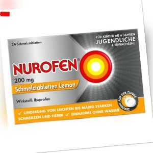 NUROFEN Schmelztabletten Lemon bei Kopfschmerzen 24stk PZN 11550548